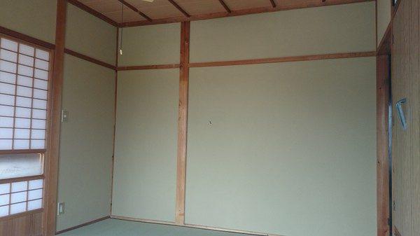 和室の壁も綿壁からジュラクに塗り替えて部屋が明るくなりました。