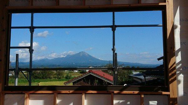 2階からの大山の眺めが最高ですよ